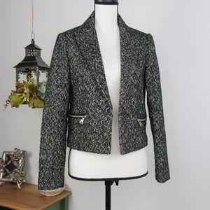 Express Coat Jacket Wool Blazer Tweed Sz 4
